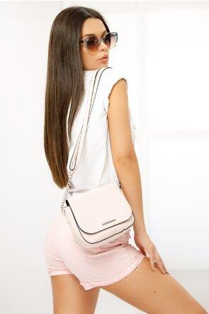 Tricou alb cu imprimeu pantofi roz