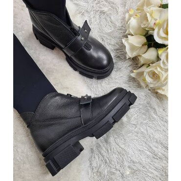 Cizme negre elastice Ailyn