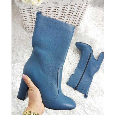 Ghete elegante piele albastra Greta