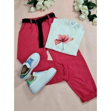 Pantaloni sport casuala fuxia Arina