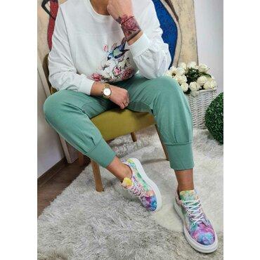 Pantaloni verzi casual dama Roxi