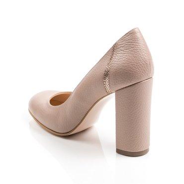 Pantofi bej din piele naturala Voiage