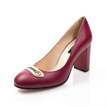 Pantofi cilam din piele naturala Joli Confy cu bareta Spring