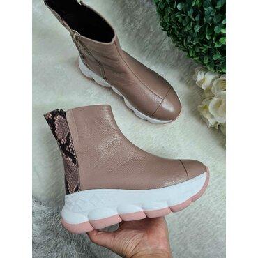 Pantofi dama din piele naturala bej Keiko