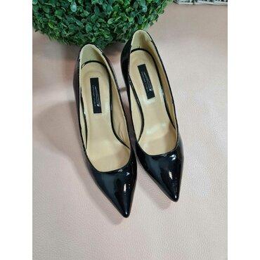 Pantofi de dama lac negru Sandra