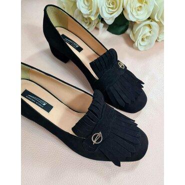 Pantofi de dama negri cu franjuri Nikol
