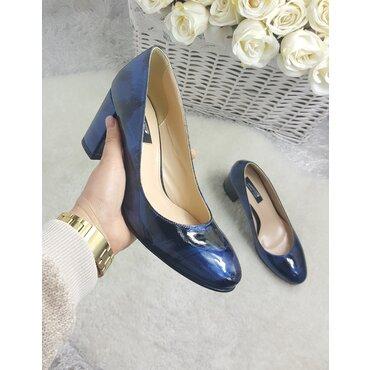 Pantofi din piele naturala bleomarin Merci
