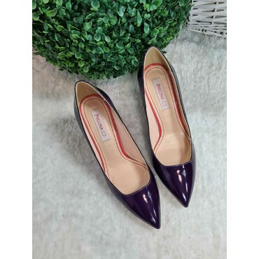 Pantofi mov din piele naturala Vanesa