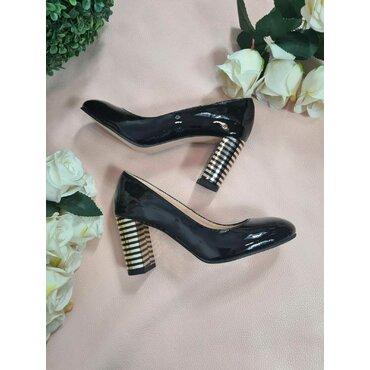 Pantofi negri din piele naturala L120