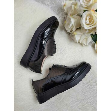 Pantofi oxford negrii cu presaj Young