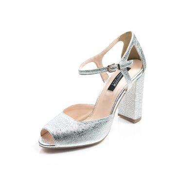 Pantofi piele argintie Iris