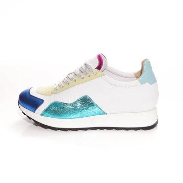 Pantofi sport casual din piele naturala multicolora Daza