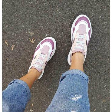Pantofi sport din piele naturala Sindy 6007