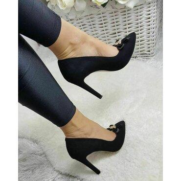 Pantofi stiletto neagri Loren