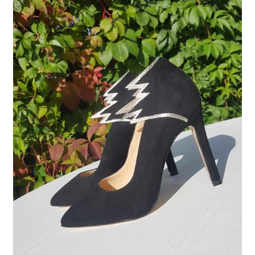 Pantofi stiletto negri Paloma
