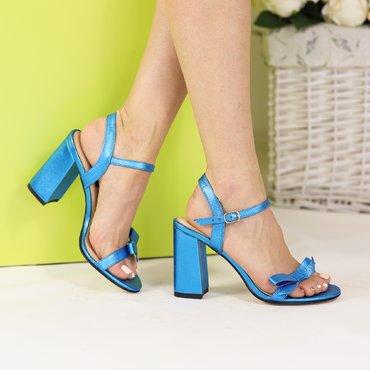 Sandale de dama Vera piele albastru sidef