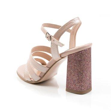 Sandale din piele naturala roz Ciao