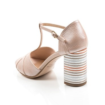 Sandale piele naturala roz Polina