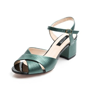 Sandale piele verde Malvina
