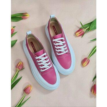 Sneakers alb cu fuxia Tulip
