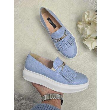 Sneakers din piele naturala bleo Klara