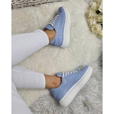 Sneakers din piele naturala presaj bleo Koli