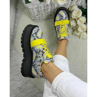 Sneakers platforma gri Basta