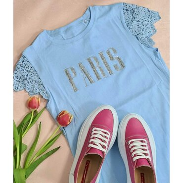 Tricou bleo de dama Paris