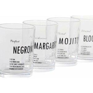 Alco Set 4 pahare, Sticla, Transparent