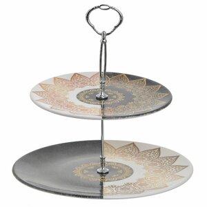 Arabesc Platou etajat, Ceramica, Multicolor