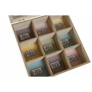 Arlo Cutie depozitare ceai, MDF, Bej