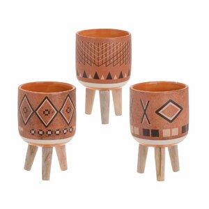 Azar Set 3 ghivece, Ceramica, Multicolor