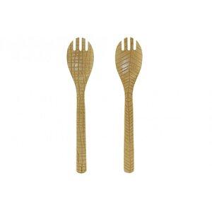 Bamb Set 2 tacamuri salata, Lemn, Maro