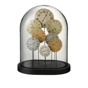 Bell Clock Decoratiune dom mare, Sticla, Maro