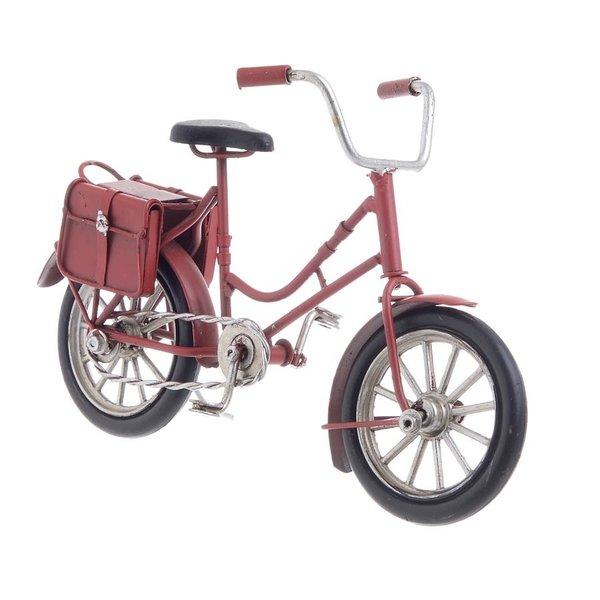 Bike Decoratiune, Metal, Rosu
