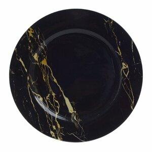 Black Farfurie suport, Plastic, Negru