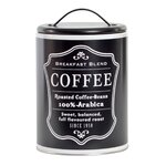 Black Recipient cafea, Metal, Negru