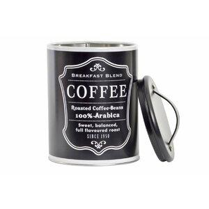 Black Borcan cafea cu capac, Metal, Negru