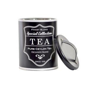 Black Recipient ceai, Metal, Negru