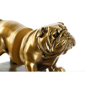 Bulldog Suport opritor carti, Rasina, Auriu