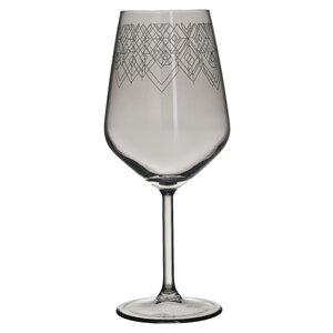 Caleb Set 6 pahare vin, Sticla, Gri
