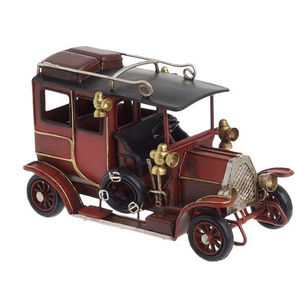 Car Decoratiune, Metal, Rosu
