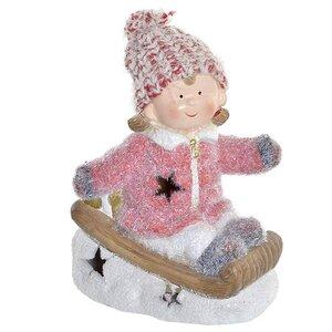 Carolin Decoratiune fetita cu LED, Ceramica, Multicolor