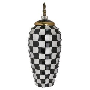 Check Vas decorativ mare, Ceramica, Multicolor