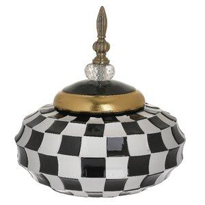 Check Vas decorativ mic, Ceramica, Multicolor