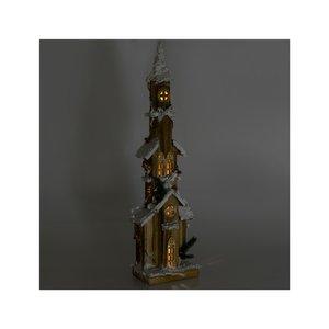 Church Decoratiune luminoasa, Lemn, Maro