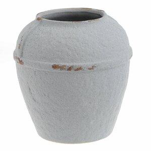Clay Vaza Mica, Ceramica, Alb