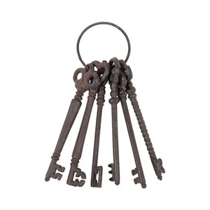 Clea Decoratiune chei, Metal, Maro
