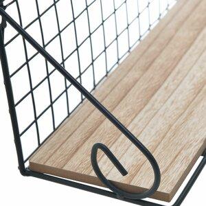 Click Set 2 rafturi perete, Metal, negru