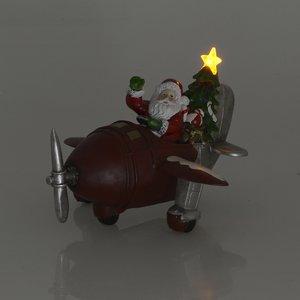 Decoratiune luminoasa Santa Airplane